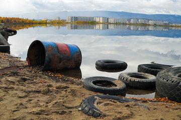 Утилизация шин (покрышек) на несанкционированных свалках